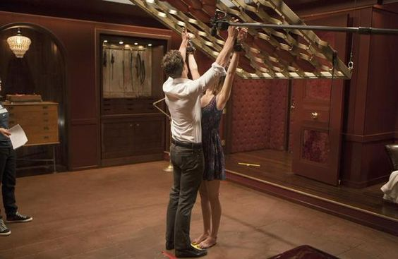 Christian Grey And Anastasia Steele Behind The Scenes Of