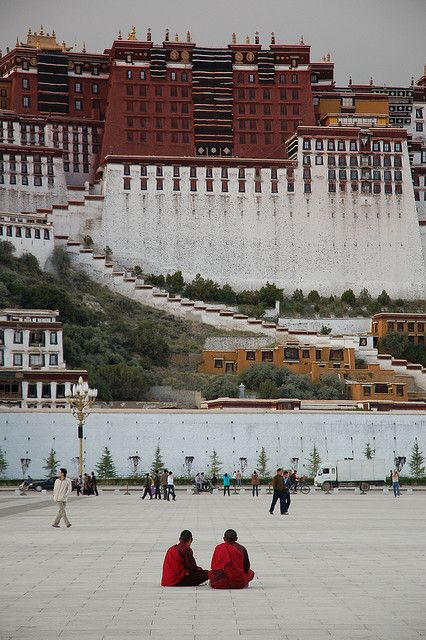 Potala Square, Lhasa, Tibet* Arielle Gabriel writes about miracles and travel in The Goddess of Mercy & The Dept of Miracles also free China toys and paper dolls at The China Adventures of Arielle Gabriel *