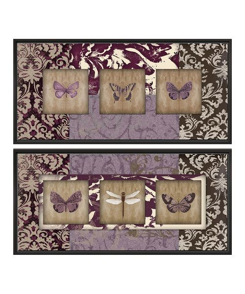 Look at this Wings on Paisley Canvas Wall Art Set on #zulily today!