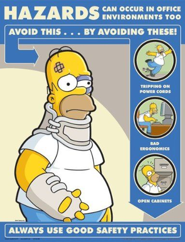 best of simpsons office safety poster hazards in office environment best office posters