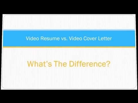 Video Resume vs Video Cover Letter Whatu0027s the Difference Get - resume vs cover letter