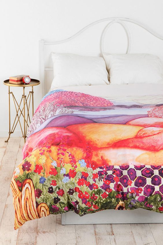 Plum & Bow Painted Hills Duvet Cover  #UrbanOutfitters