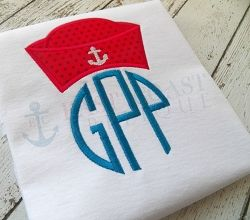 Sailor Hat Applique - 3 Sizes! | Boats | Machine Embroidery Designs | SWAKembroidery.com East Coast Applique
