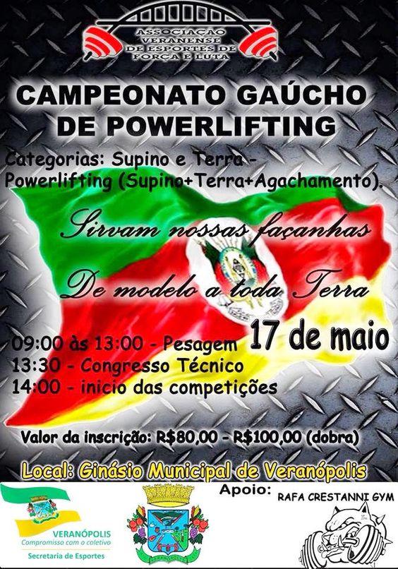 Rádio Web Mix Esporte&Som: Campeonato Gaúcho de Powerlifting no próximo dia 1...
