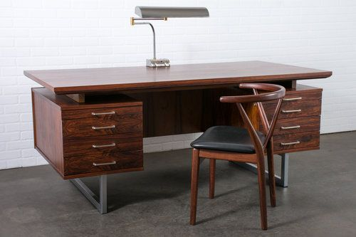 Mid Century Modern Rosewood Executive Desk 1960s Mid Century Modern Finds Rose Wood Desk Executive Desk Desk