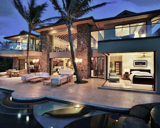 Exterior design tropical design and pictures on pinterest for Design deco maison