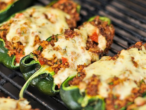 Grilled Chorizo Stuffed Poblano Peppers Recipe Recipe Stuffed Peppers Poblano Peppers Recipes Recipes