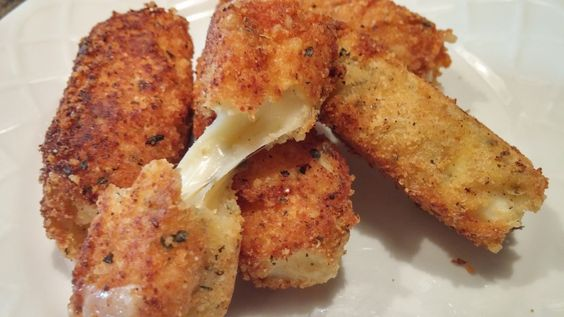 Keto Cheese Sticks using parmesan cheese and coconut flour. low-carb.