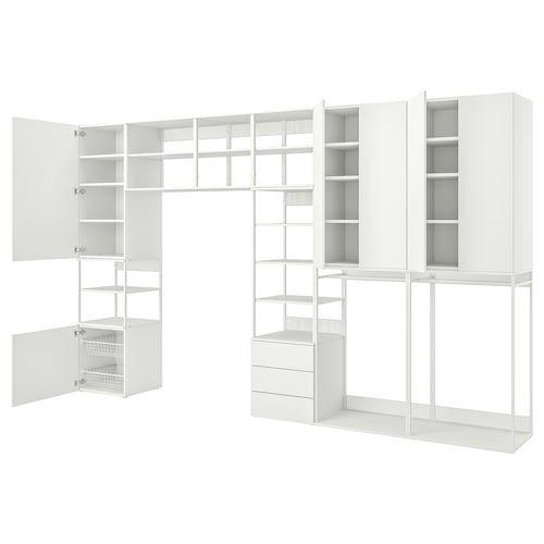 Platsa Kleiderschrank Mit 9 Turen Weiss Fonnes Ridabu Ikea