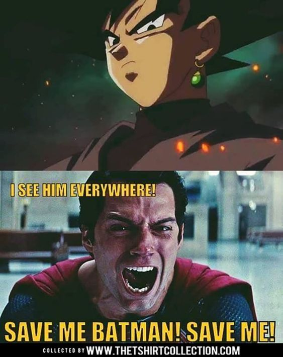 Memes of Superman and Goku