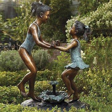 garden+sculptures   ... Cast-bronze Sculpture - Frontgate traditional-garden-sculptures
