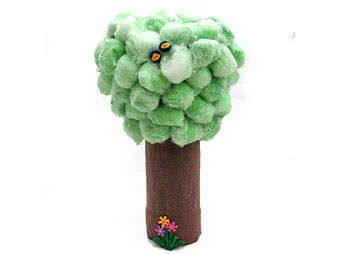 Make a Cotton Ball tree to celebrate Earth Day