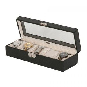 Allurez Men's Glass Top Watch Box in Tex  EUR 89.00