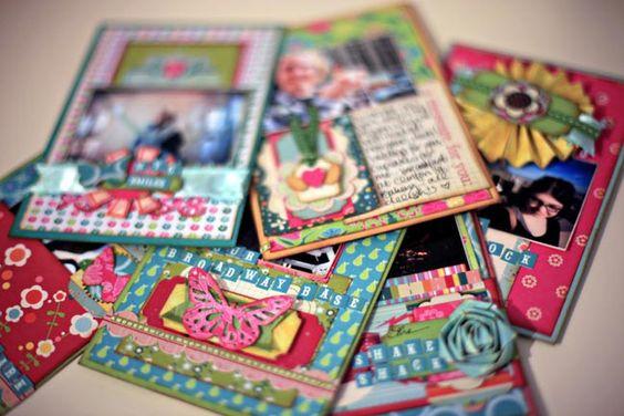 scrapbook cards...so cute!