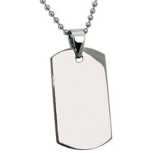 Personalized Stainless Steel Dog tag with by PersonalizedGiftsUSA, $12.95