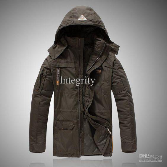2017 new Men's outdoor NAPAPIJRI jackets men long Hooded down ...