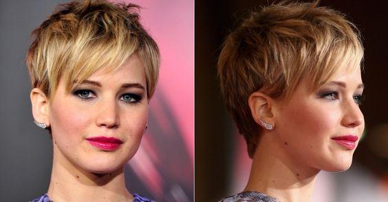Jennifer Lawrence Pixie Haircut | Jennifer Lawrence - pixie cut