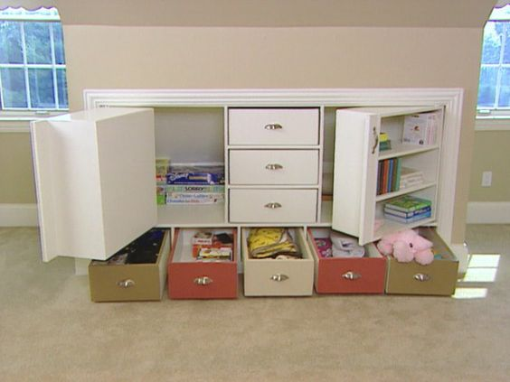 Knee wall storage unit ~ Tutorial (With VIDEO):