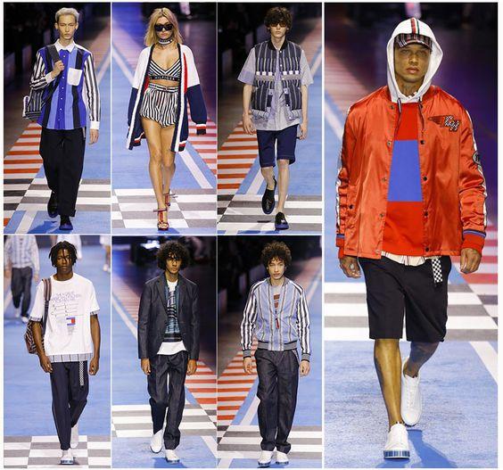 🏁 A moda masculina do desfile Tommy Hilfiger X Gigi Hadid