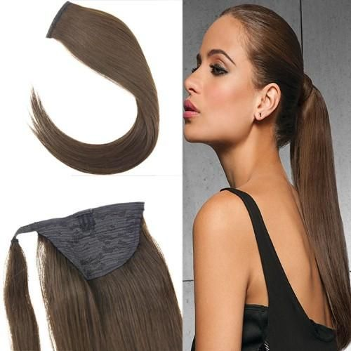 80g Wrap Aound Ponytail Human Hair Extensions With One Clip 4