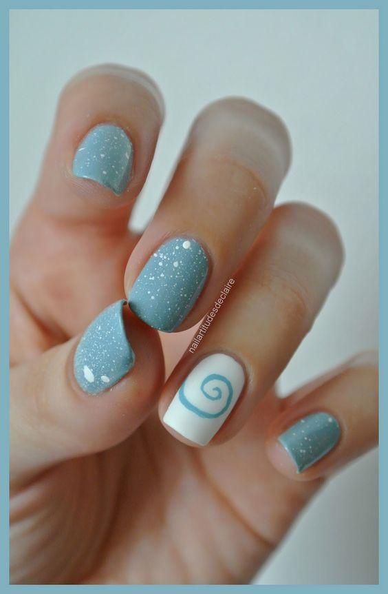Nailartitudesdeclaire: Splatters légers et coquillage à spirale