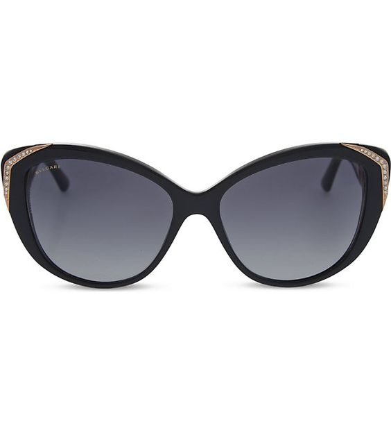 BVLGARI Bv8151 cat-eye sunglasses (Black