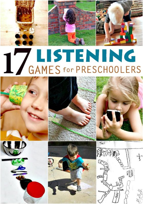 These 17 listening games for preschoolers are a fun way to help your kids work on their listening skills!