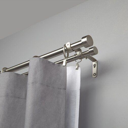 Umbra Cappa Double Curtain Rod Reviews Wayfair Double Curtains Double Rod Curtains Curtains