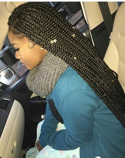 Image de melanin, box braids, and summerella
