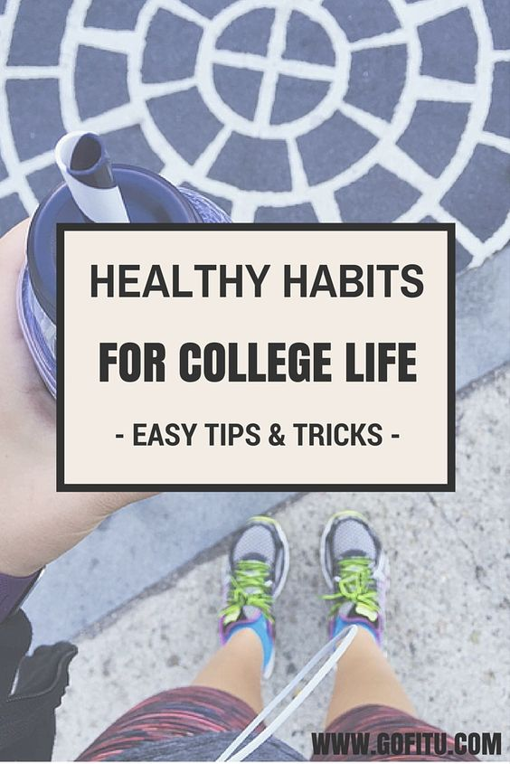 The key to getting fit and staying fit in college is simple…it's all about adopting healthy habits. Check out this awesome list of healthy habits for college life.