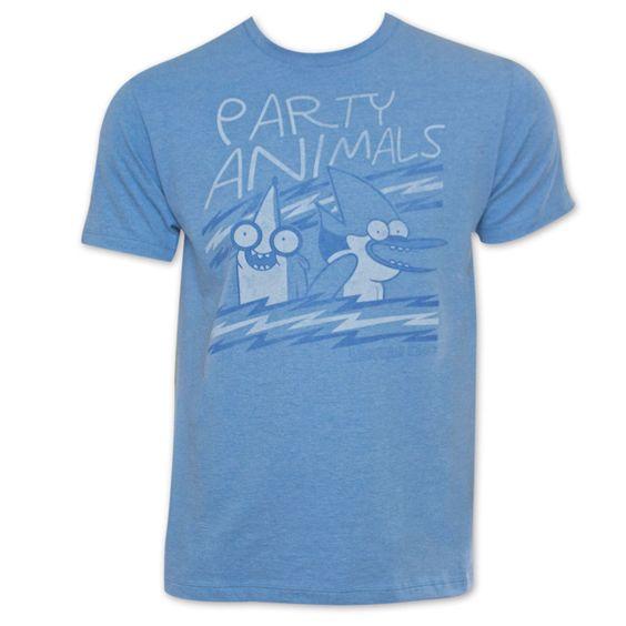Sun Regular Show Party Animals T-Shirt, Men's