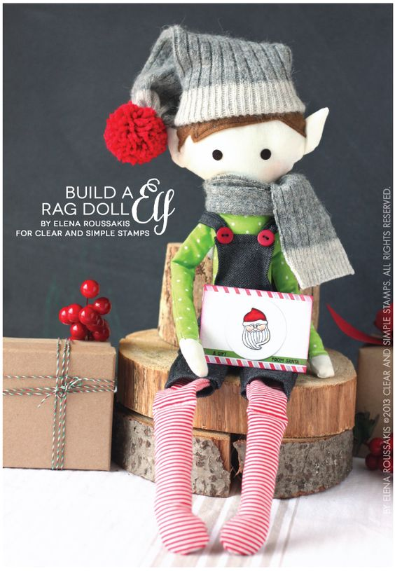 Build-a-Rag Doll: Elf | Clear and Simple Stamps by Just Me | Elf on the shelf | Elf Plush Toy | Build-a-Rag Doll: Base + Build-a-Rag Doll: Boy