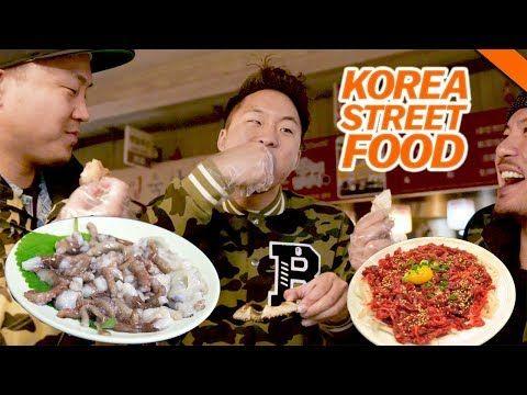 Korean Street Food You Ve Never Had Live Octopus Raw Beef