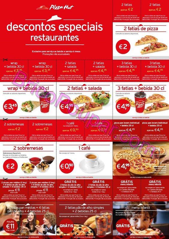Novos Vales de desconto Pizza Hut - valido até 28 de Fevereiro