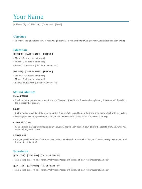 resume format  functional resume and resume on pinterest