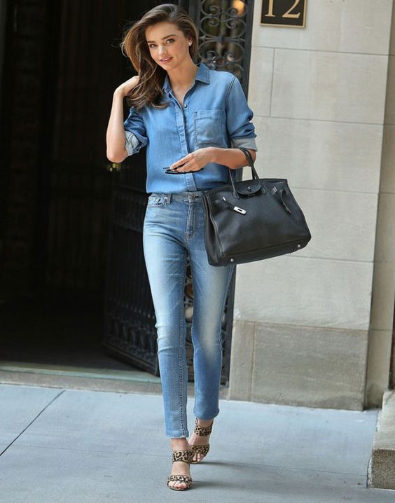 miranda kerr look all denim