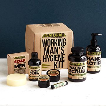 For Corey - Look what I found at UncommonGoods: Working Man's Hygiene Kit for $50 #uncommongoods