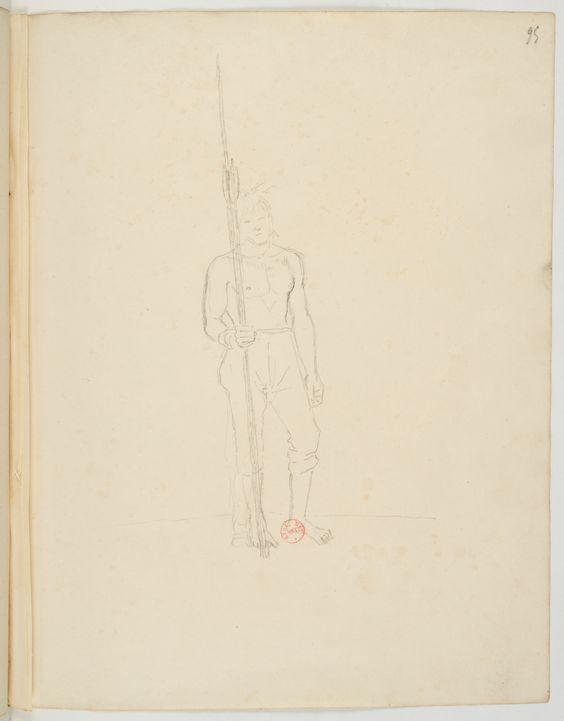 FLORENCE, Hercule -  Sem título [Desenho do Carnet de dessins] -  [1826]  Aquarela sobre papel -  19,3 x 24,7 cm -  Coleção Bibliothèque Nationale de France (Paris)