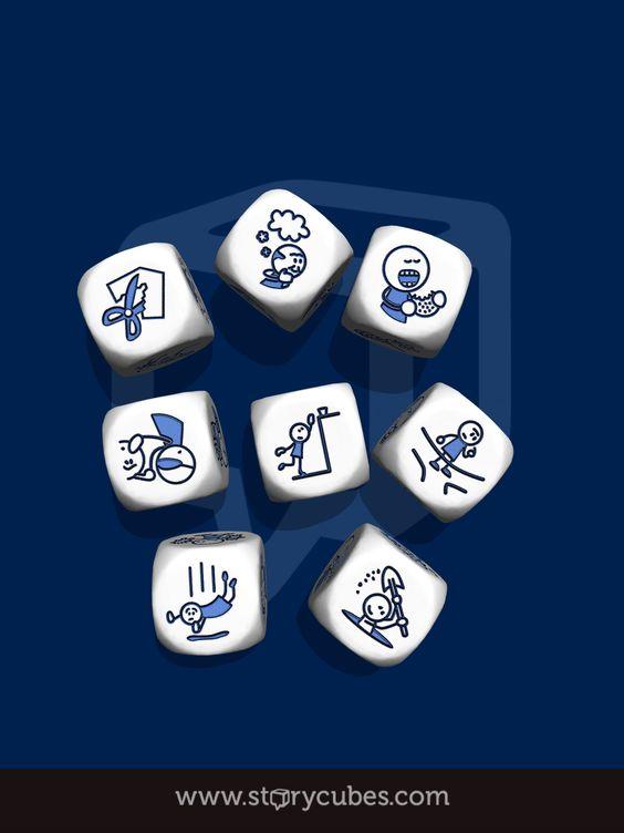 In de Appstore de handige app story Cubes