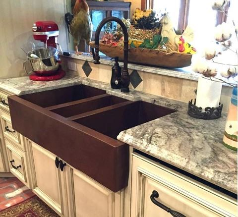 42 Triple Well Copper Farmhouse Sink By Soluna Copper Farmhouse