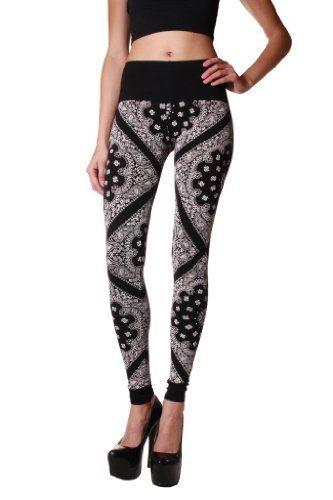 Cemi Ceri Womens Jersey Bandana Print Leggings $18