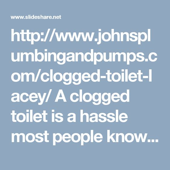 http://www.johnsplumbingandpumps.com/clogged-toilet-lacey/ A clogged toilet is a hassle most people know how to deal with—use a plunger. However, there are times when either the plunger doesn't solve the problem or the problem persists nearly every time you flush. This can be a sign of a more serious, unseen issue. John's Plumbing & Pumps, Inc has the noninvasive technology and the experiencedplumbing professionals to diagnose yourclogged toilet in Lacey or the surrounding areas.
