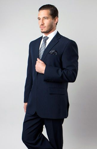 Classic blue suit with pinstripes. | Suits | Pinterest | Suits