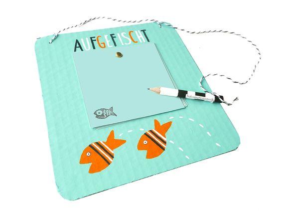 Weiteres - Fische, Notizzettelhalterung Upcycling - ein Designerstück von Kirschblueten-Tsunami bei DaWanda