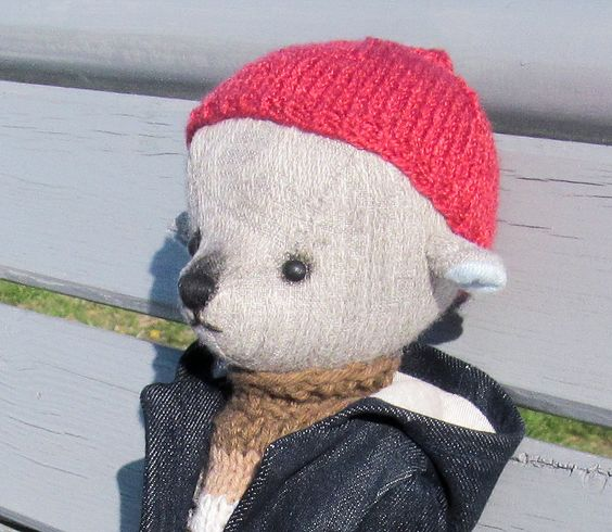 Teddy bear in duffle coat by PensiveTeddyOfStyle on Etsy