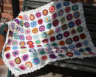 Roses and Daisies Throw