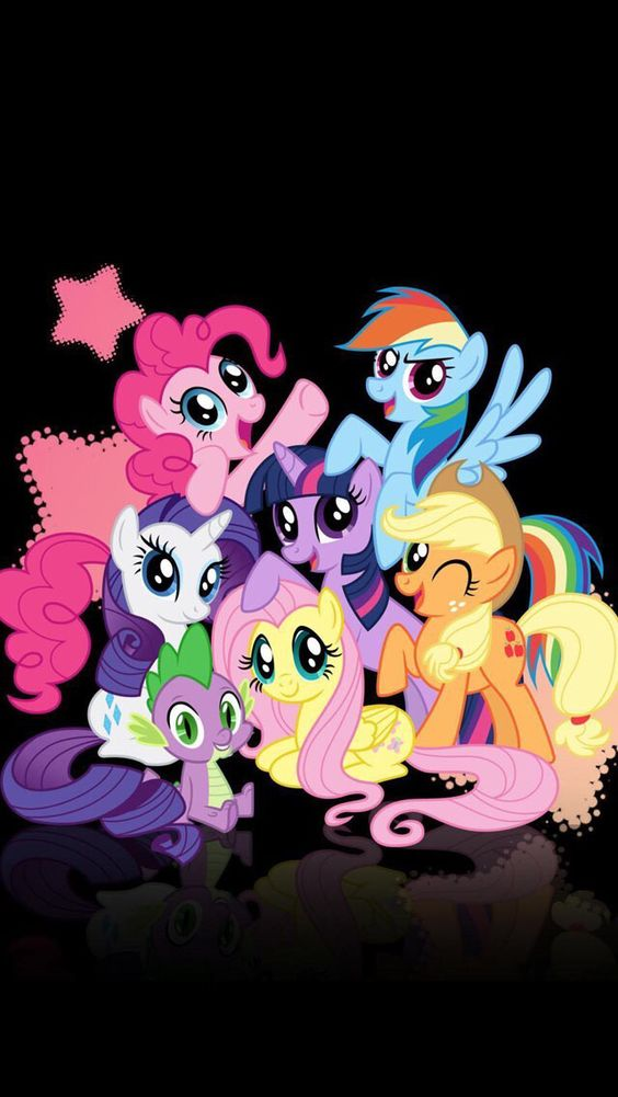 My little pony, this is my phone background! X3