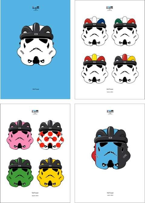 Star Wars inspired cycling poster: 'VéloTrooper' by ELEVEN vélo
