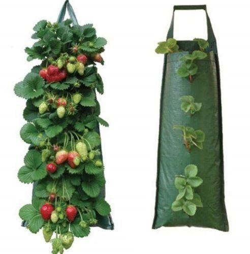 1//2PCS Garden Hanging Planter Grow Bag Tomato Strawberry Flower Plants Herb Bag