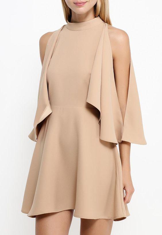 Бежевое платье с американской проймой Finders Keepers в интернет-магазине http://fas.st/NoDeIl